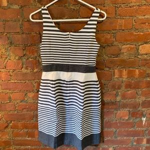 Banana Republic Fit and Flare Striped Dress